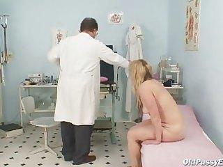 older stazka gyno fetish real exam at perverted