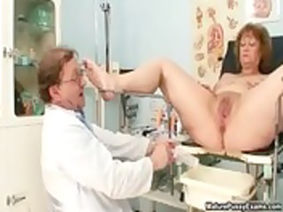 concupiscent doctor abusing a immodest grandma