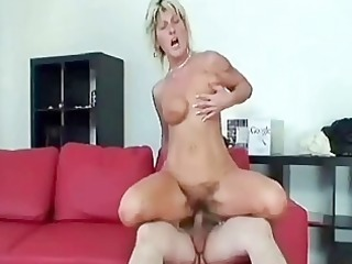 granny swallows a large knob and bonks it is hard