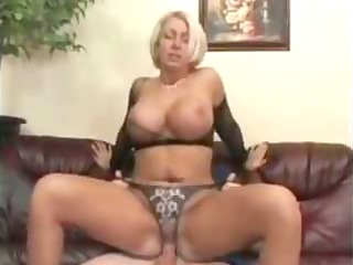 mama with biggest love bubbles in fishnet