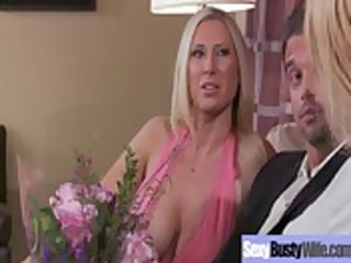 hot breasty mom get hardcore group-sex act