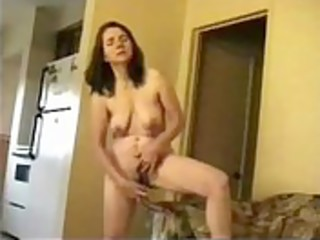 aged wife masturbates standing for internet