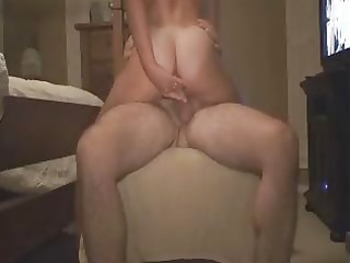 wife riding anal and double penetration sex toy