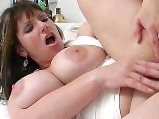 big breasted bitch wife rides giant piece of meat