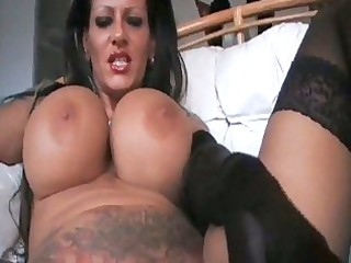 foxy mega titted mother i smoking in darksome