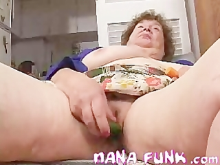 lascivious gran playing her old wet crack with