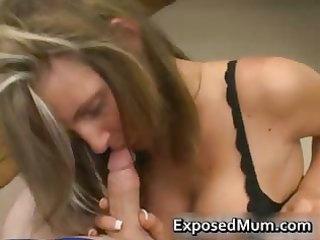 hawt mum with giant juggs sucks unyielding rod