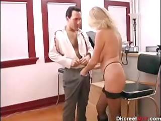 sexy older secretary seducing younger boss