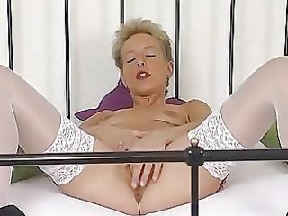 aged german golden-haired masturbating