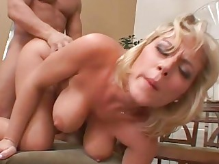 blonde milf acquires her snatch pounded on chair