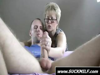 blonde mother i give this guy with a large dick