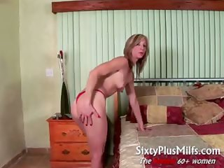 horny aged wife gives perverted solo