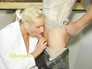 older teacher with her student