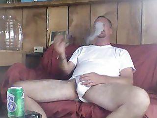 daddy smokin a well merited cigar after fucking