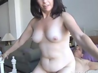 beautiful aged dark brown loves the smack of cum