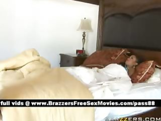 delicious brunette hair wife wakes up