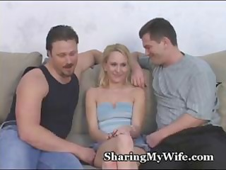 diminutive golden-haired wife is getting screwed