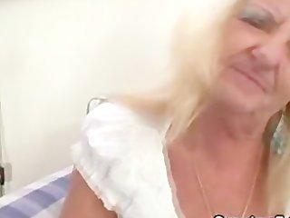 drunk golden-haired granny in hawt trio fuckfest