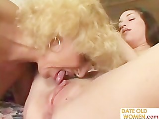 grandmother fucking youthful cutie