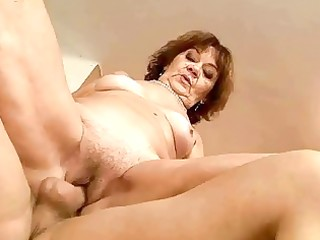 unsightly fat granny riding youthful dick