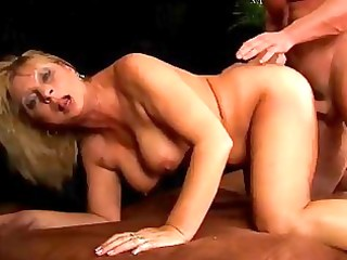 aged rosalyn squirts and receives cummed on