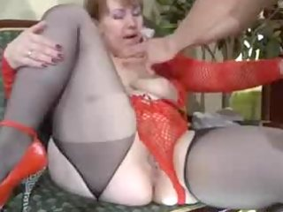 a great magic russian granny with fortunate lad 9