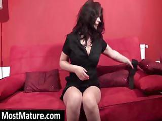 hawt brunette mother i receives stripped on the