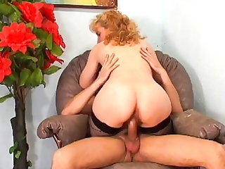 older frenchie with large bush anal screwed by