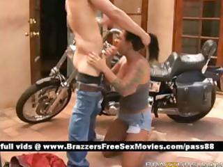 aged stripped brunette hair whore outside near a