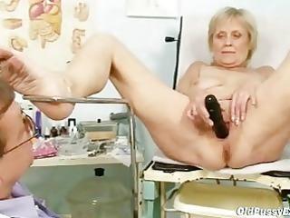 older old brigita getting twat exam from