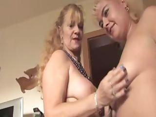 older golden-haired lesbos receive going and