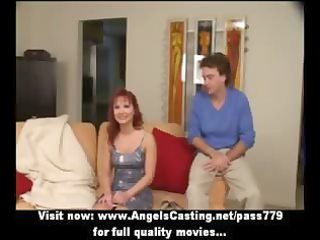 redhead milf as bride does oral stimulation for