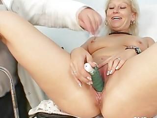 obscene granny doxy acquires her recturm examined