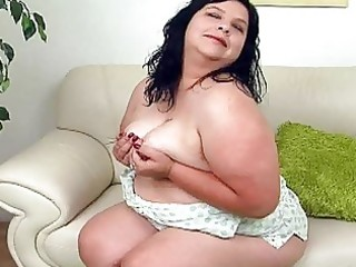 huge darksome haired mother i with large bosom