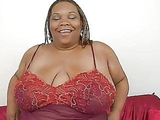 bulky swarthy momma with biggest bosom plays with