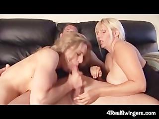 swinger wife 6some turns into fuckfest