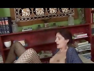 skinny saggy petite wobblers granny in fishnets