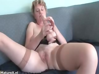 naughty older woman loves getting massive