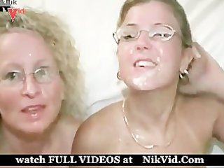 6 golden-haired milfs in swinger club