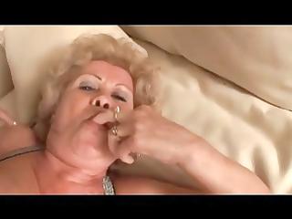 breasty curly blond granny fucks