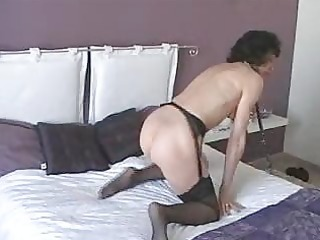 aged with sex-toy does herself