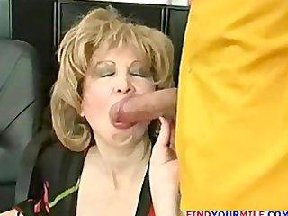 mature secretary entice juvenile boss