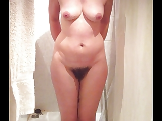 hot wife whilst she shower
