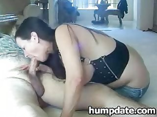 mother i with large tits gives blow job and