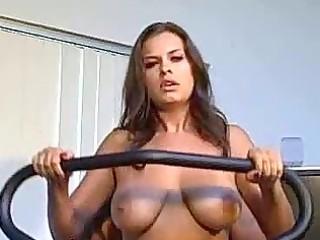 milf girlfriend with large bra buddies receives a