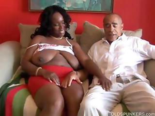 busty aged swarthy big beautiful woman blows him