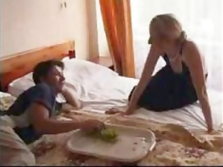 small russian aged and younger amateur mama